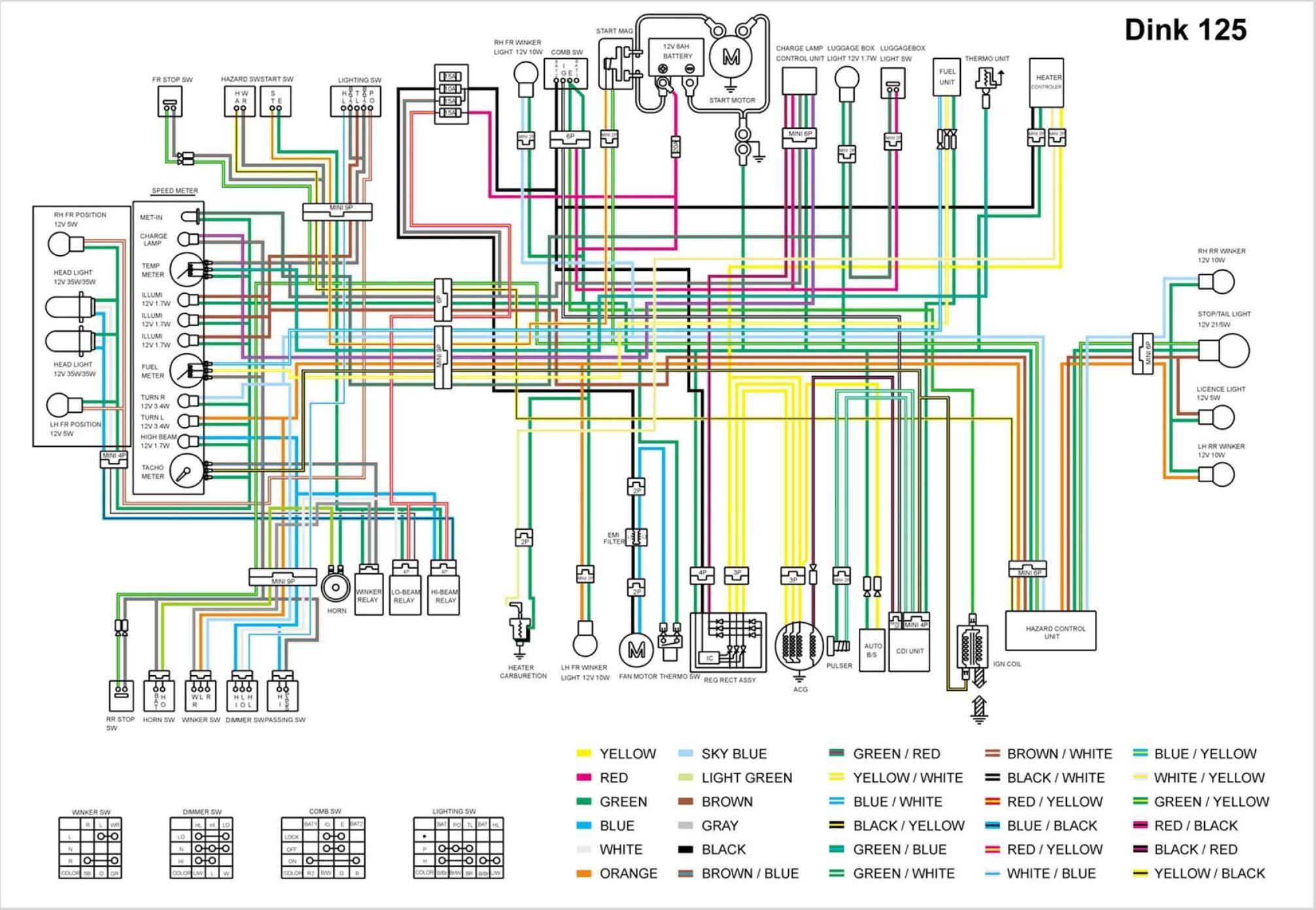 Проводка мопеда схема